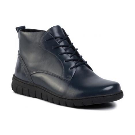 Šnurovacia obuv GO SOFT WI23-GHANA-02 Prírodná koža(useň) - Lícova