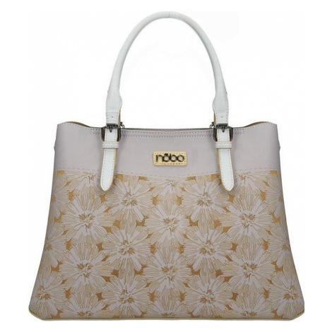Nobo svetlo fialová kabelka s kvetinovým vzorom