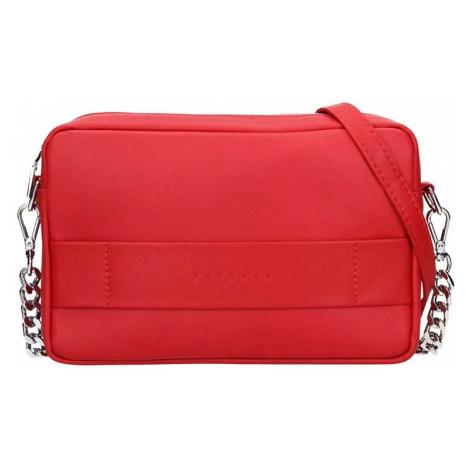 Trendy dámska kožená crossbody kabelka Facebag Ninas - červená