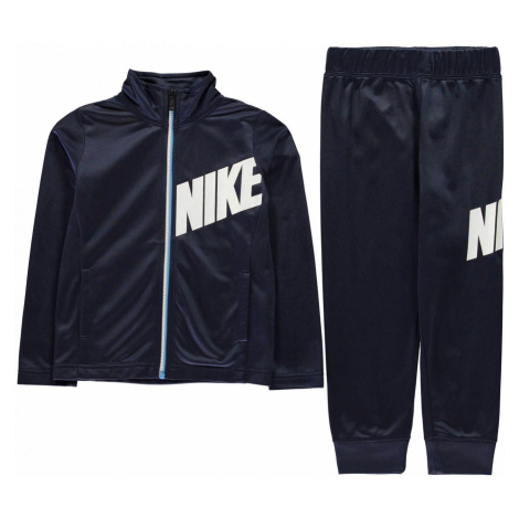 Nike Core Full Zip Polyester Tracksuit Boys Midnight Navy