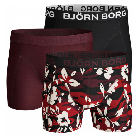 BJÖRN BORG - 3PACK camo floral wine tasting boxerky Bjorn Borg