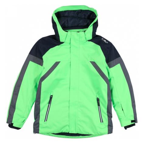 CMP Športová bunda  zelená / čierna / sivá