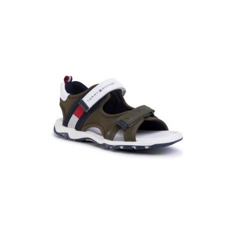 TOMMY HILFIGER Sandále Velcro Sandal T3B2-30740-0937 S Zelená