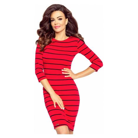 Červené šaty Eleonora Bergamo