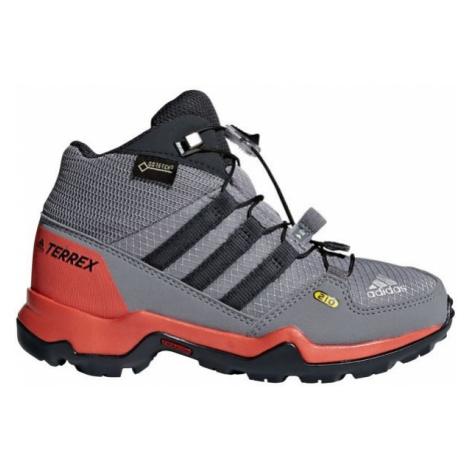 adidas TERREX MID GTX K šedá - Detská outdoorová obuv