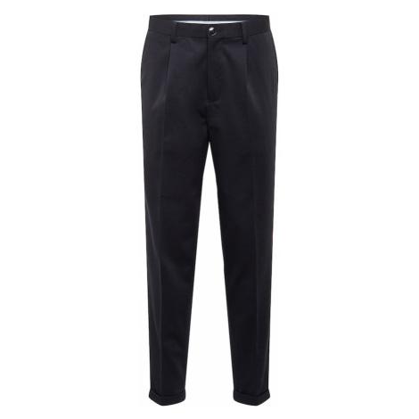 SELECTED HOMME Plisované nohavice  čierna