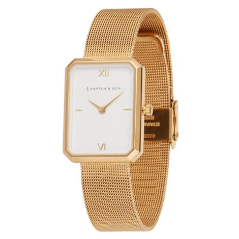Kapten & Son Analógové hodinky 'Grace Mesh'  zlatá