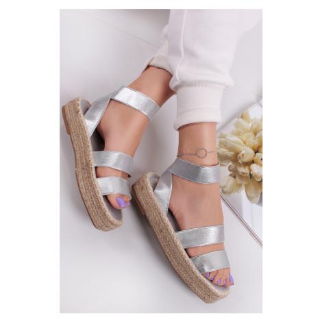 Strieborné platformové sandále Cammie Ideal