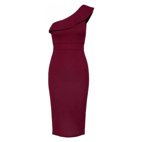 WAL G. Kokteilové šaty  vínovo červená