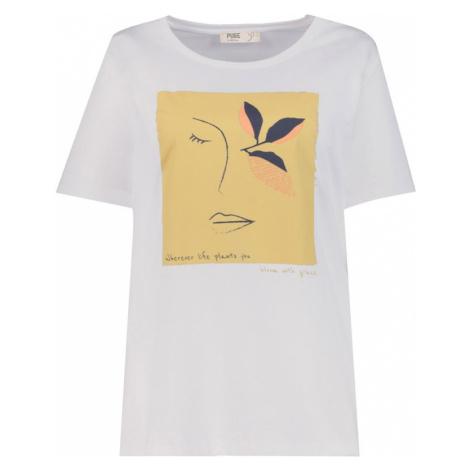 Ulla Popken Tričko  biela / zlatá žltá / čierna
