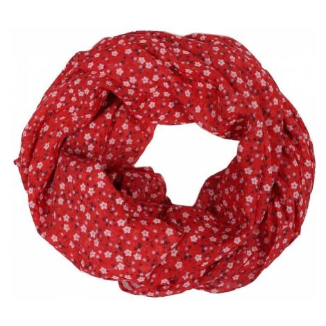 Zwillingsherz Kruhový šál  červená / biela