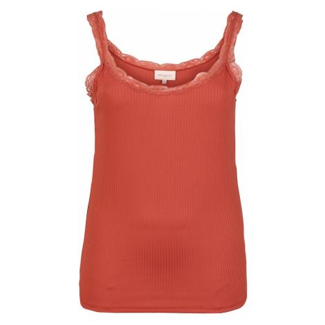 ONLY Carmakoma Top 'CARMILO'  oranžovo červená