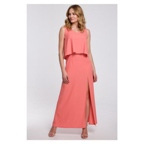 Broskyňové šaty K048