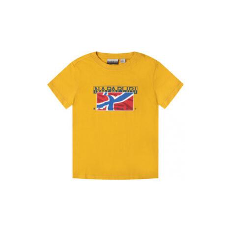 Napapijri Tričko K Sallyn NP0A4E52Y M Žltá Regular Fit