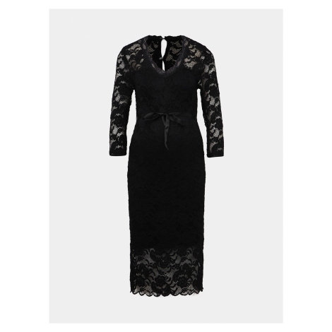 Čierne krajkové tehotenské šaty Mama.licious Minava Mama Licious