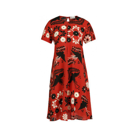 Red Valentino Letné šaty RR0VA6P5 Červená Regular Fit
