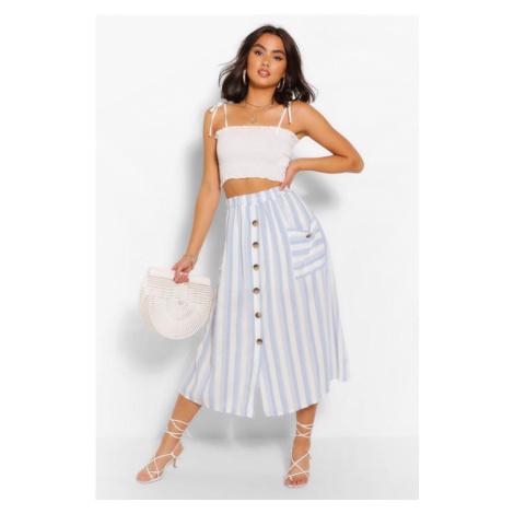 Midi sukne s prúžkom Boohoo