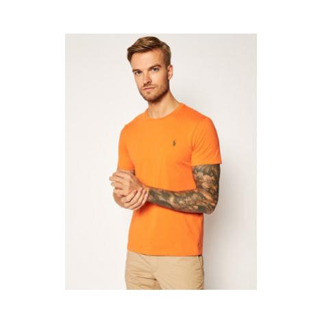 Polo Ralph Lauren Tričko Classics 710671438166 Oranžová Slim Fit