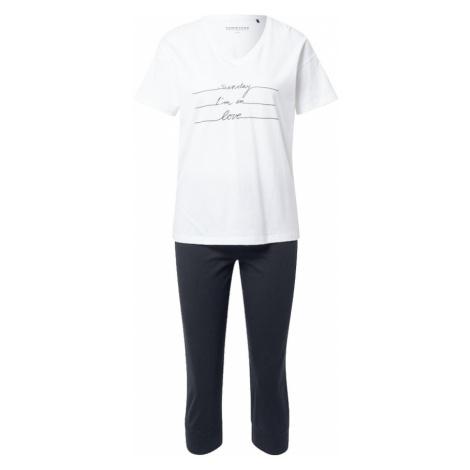 SCHIESSER Pyžamo  čierna / biela