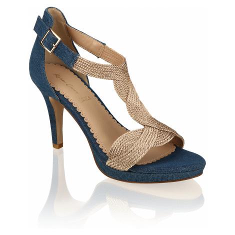 Kate Gray textil Klasické sandále zlatá
