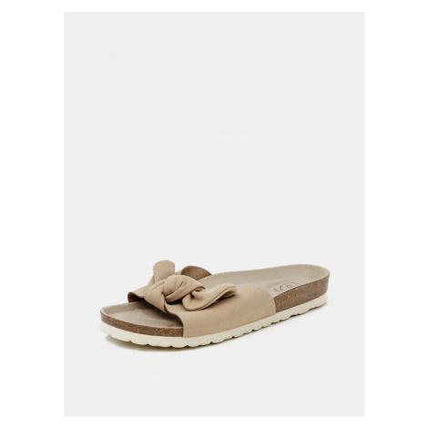 Beige women's slippers in suede OJJU