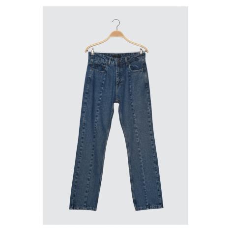 Trendyol Navy Men's Straight Fit Jeans