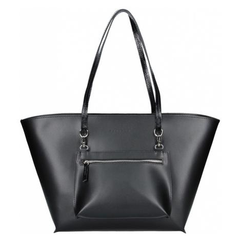 Dámska kožená kabelka Facebag 2v1 - čierna