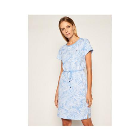 TOMMY HILFIGER Každodenné šaty Belle WW0WW28590 Modrá Regular Fit