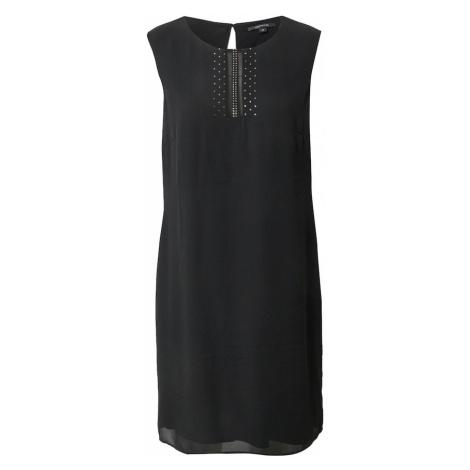COMMA Kokteilové šaty  čierna