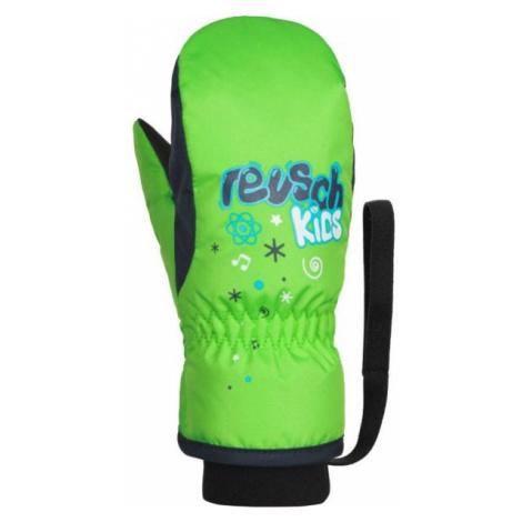 Reusch KIDS MITTEN zelená - Detské lyžiarske rukavice