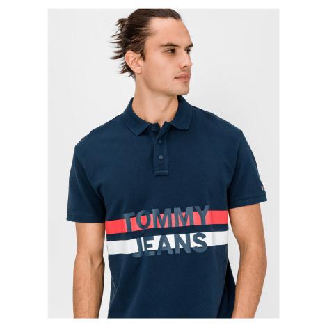 Block Stripe Polo triko Tommy Jeans Modrá Tommy Hilfiger
