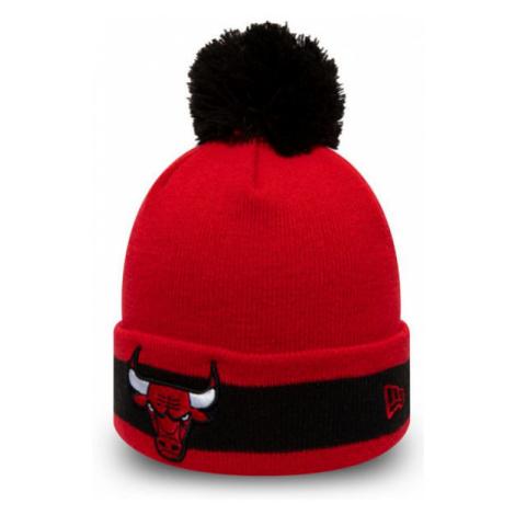 New Era NBA CHARACTER STRIPE KNIT CHICAGO BULLS červená - Pánska zimná klubová čiapka