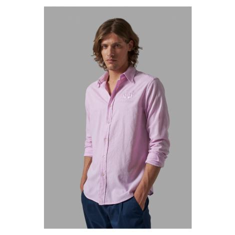 Košeľa La Martina Man Shirt L/S Cotton Linen