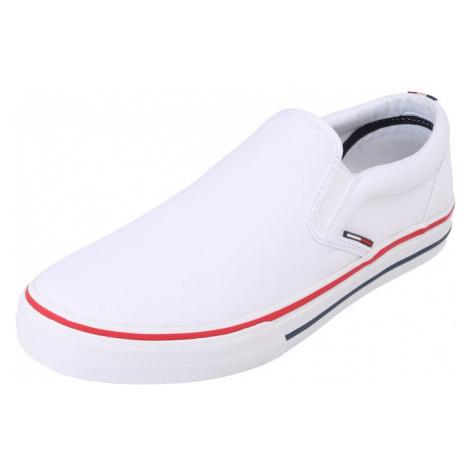 Tommy Jeans Slip-on obuv  biela / červená Tommy Hilfiger