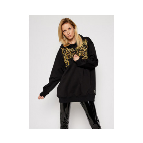 Versace Jeans Couture Mikina B6HZB71T Čierna Regular Fit