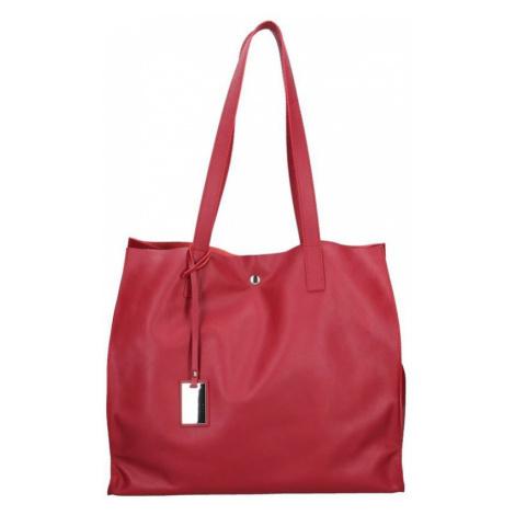 Dámska kožená kabelka Facebag Karolína - červená