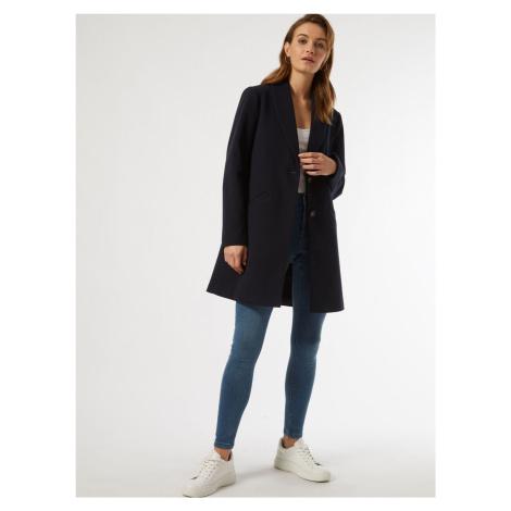 Tmavo modrý kabát Dorothy Perkins