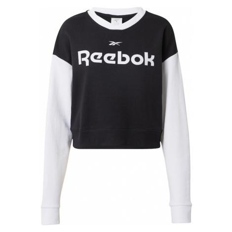 REEBOK Športová mikina  čierna / biela