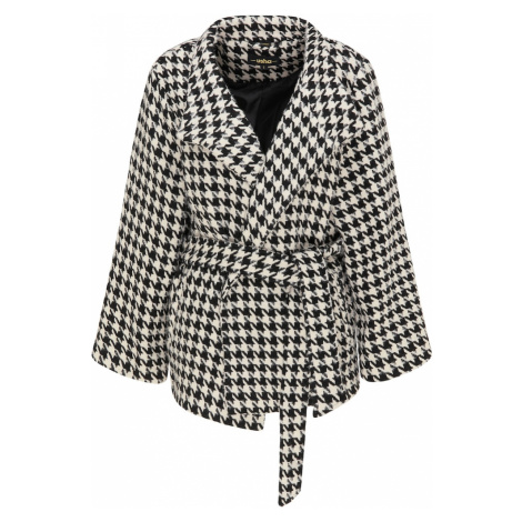 usha BLACK LABEL Prechodný kabát  čierna / biela