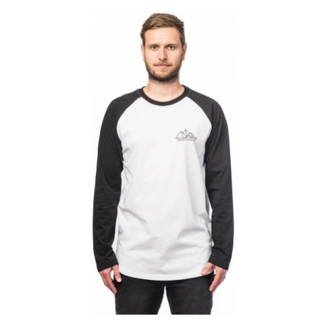 Horsefeathers PEAKS LS T-SHIRT biela - Pánske tričko
