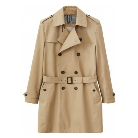MANGO MAN Prechodný kabát  svetlohnedá
