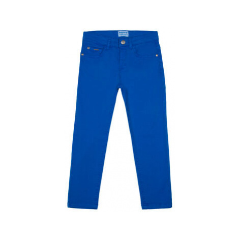 Mayoral Bavlnené nohavice 509 Modrá Slim Fit