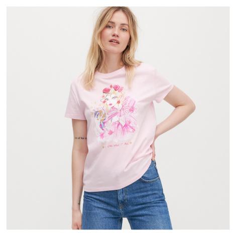 Reserved - Tričko s grafikou RE ART - Ružová