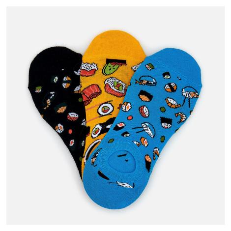 Reserved - Súprava 3 párov členkových ponožiek - Tyrkysová