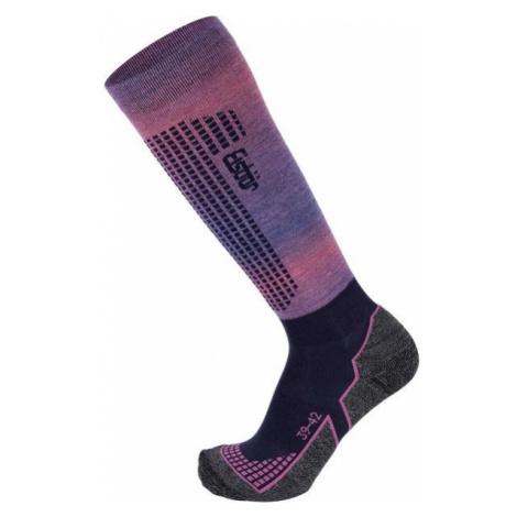 Eisbär SKI W TECH LIGHT DX + SX ružová - Dámske lyžiarske ponožky