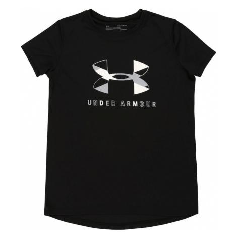 UNDER ARMOUR Funkčné tričko  čierna / sivá