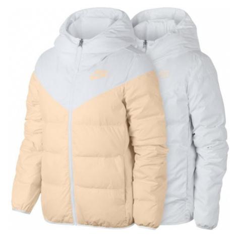 Nike NSW WR DWN FILL JKT REV biela - Dámska obojstranná bunda