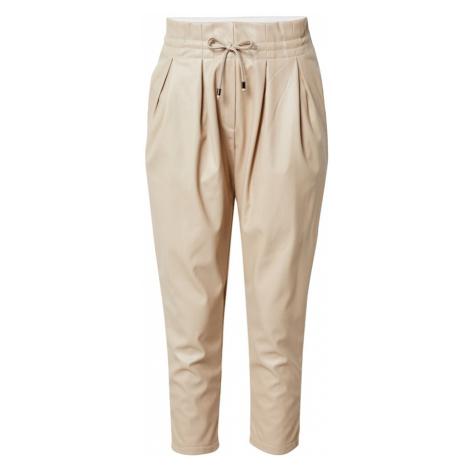Karo Kauer Plisované nohavice  krémová