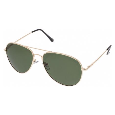 Slnečné letecké okuliare Walker zlaté rámy zelené sklá