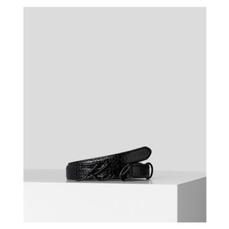 Opasok Karl Lagerfeld K/Signature Croco Belt